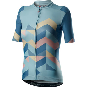 Castelli Unlimited Jersey Korte Mouwen Dames, winter sky
